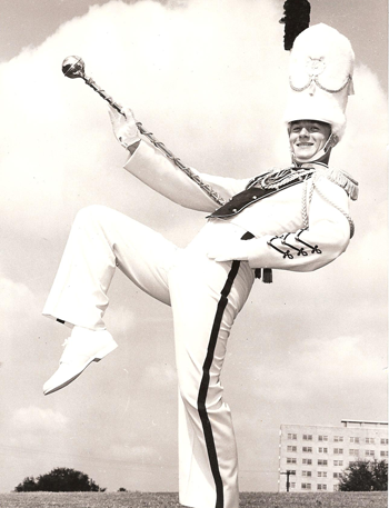 Bennett Shelfer as drum major