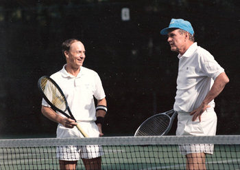 Tennis with George Bush